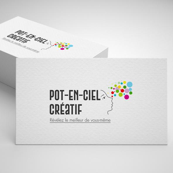 Logo Pot-en-ciel Créatif
