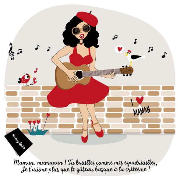 Les nanas - Audrey Birles - Illustratrice Bayonne - Fête des mères