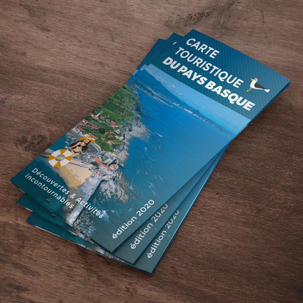Carte touristique du Pays basque