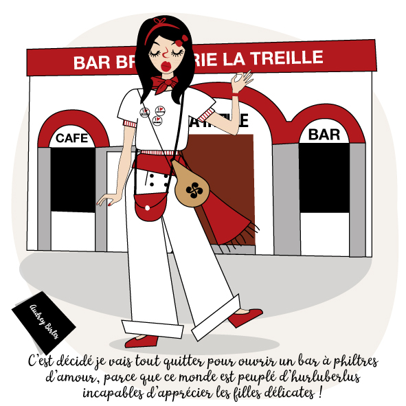 Les nanas - Audrey Birles - Illustratrice Bayonne - Fêtes de Bayonne