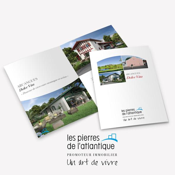 Brochure Dolce Vita - Promoteur - Arcangues - les Pierres de l'atlantique