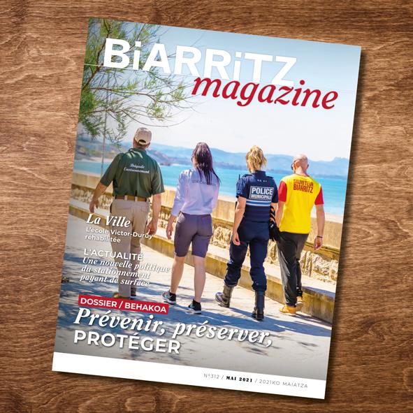 Infographies Ville de Biarritz, magazine municipal de Biarritz