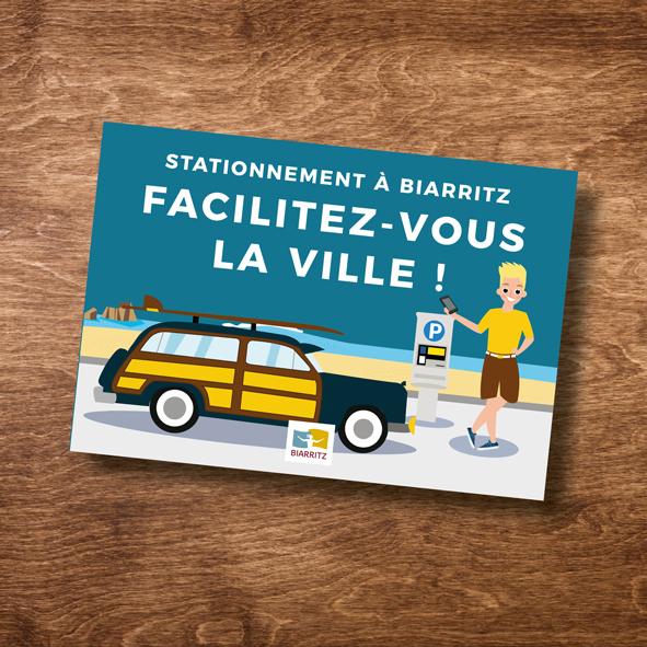 Dépliant stationnement Biarritz