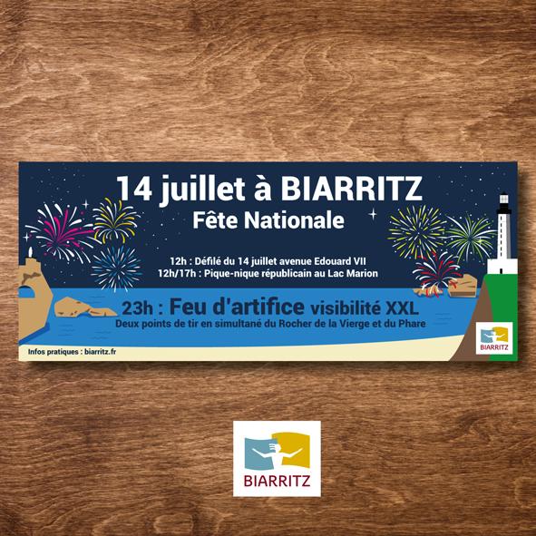 Illustration Biarritz, Ville de Biarritz - 14 juillet